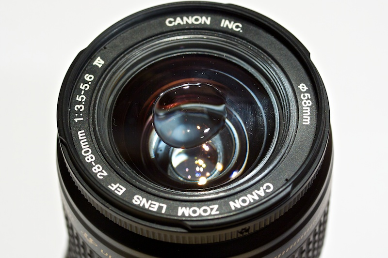 Water on the Lens